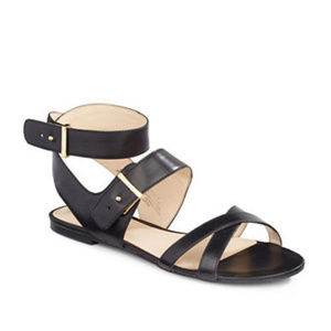 NWT Nine West Darcelle Two-piece Leather Sandals